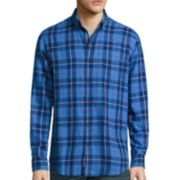St. John's Bay® Long-Sleeve Classic-Fit Plaid Flannel Shirt