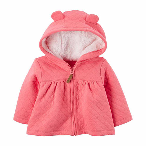 Carter's Midweight Fleece Jacket-Baby Girls
