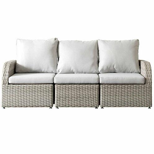 CorLiving Brisbane Weather Resistant Resin Wicker 3-pc. Sofa Patio Set