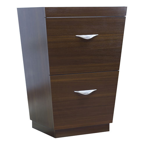 American Imaginations Vee V-Shape Floor Mount 23.25-in. W x 18-in. D Modern Plywood-Melamine VanityBase Only In Wenge