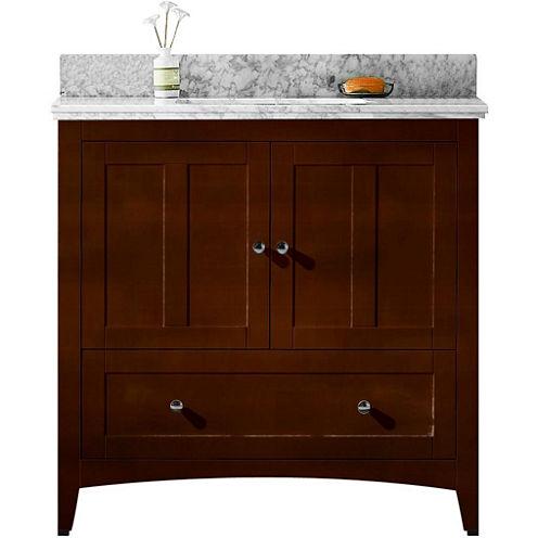 American Imaginations Shaker Rectangle Floor Mount8-in. o.c. Center Faucet Vanity Set