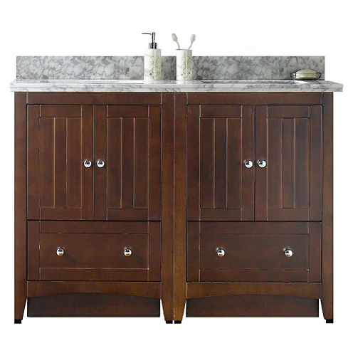 American Imaginations Shaker Rectangle Floor Mount4-in. o.c. Center Faucet Vanity Set