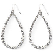 Vieste Crystal Teardrop Earrings