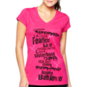 Xersion™ Breast Cancer Awareness Short-Sleeve V-Neck Graphic Tee