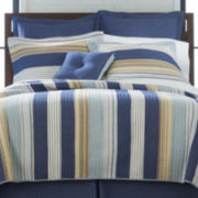 Retro Loft Cotton Striped Quilt & Accessories
