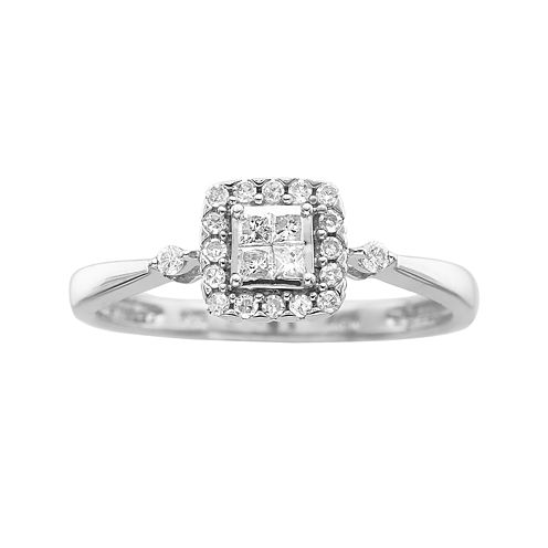 ¼ CT. T.W. Princess Diamond Promise Ring