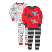 Carter's® 4-pc. Planes & Trains Pajama Set - Boys 2t-5t
