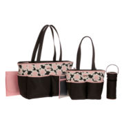 Carter's® Pink Floral Top Diaper Bag