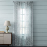 MarthaWindow™ Peeking Vine Grommet-Top Sheer Panel