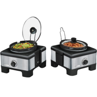 jcpenney.com | Bella™ Linkable Serve & Store Double Slow Cooker System