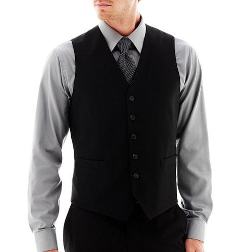 JF J. Ferrar® Stretch Gabardine Vest - Slim Fit