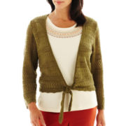 Alfred Dunner® Birds of Paradise Crochet Layered Top