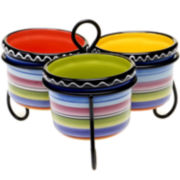 Certified International Tequila Sunrise 4-pc. Serving Bowl Set
