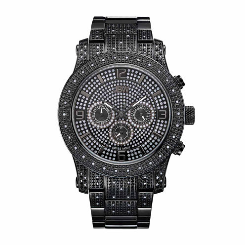 JBW Men's Lynx .80 ctw Diamond Black Ion-Plated Stainless Steel Watch J6336A