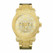 JBW Mens Gold Gold Tone Bracelet Watch