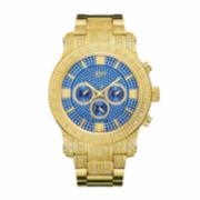 JBW Mens Blue Gold Tone Bracelet Watch