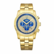 JBW Mens Blue Gold Tone Bracelet Watch