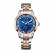 JBW Womens Blue Silver Tone Bracelet Watch