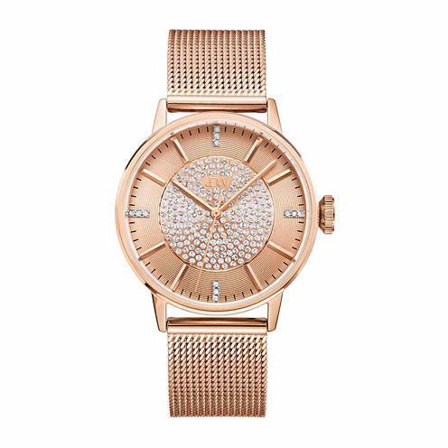 JBW Women's Belle 0.12 ctw Diamond 18K Rose Gold-Plated Stainless Steel Watch J6339B