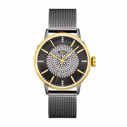 JBW Women's Belle 0.12 ctw Diamond Black Ion-Plated Stainless Steel Watch J6339D