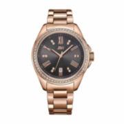 JBW Womens Black Rose Goldtone Bracelet Watch