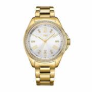 JBW Womens Silver Gold Tone Bracelet Watch