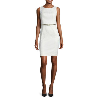 jcpenney.com | Worthington® Sleeveless Belted Sheath Dress
