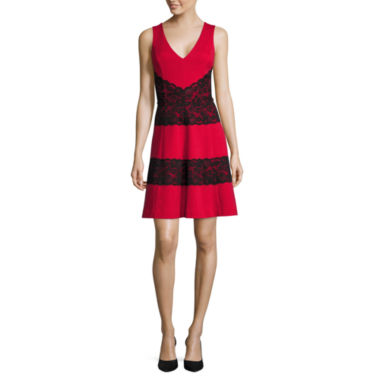 jcpenney.com | nicole by Nicole Miller® Sleeveless V-Neck Fit-and-Flare Dress