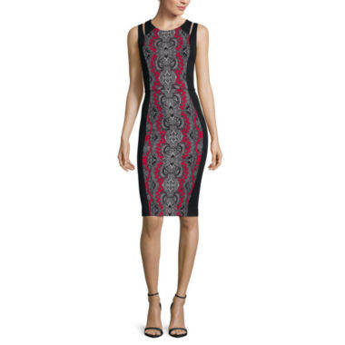 jcpenney.com | nicole by Nicole Miller® Sleeveless Printed Sheath Dress