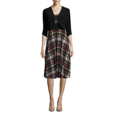 jcpenney.com | Perceptions 3/4-Sleeve Plaid Jacket Dress