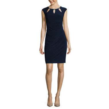 jcpenney.com | Scarlett Sleeveless Metal-Trim Cutout Sheath Dress