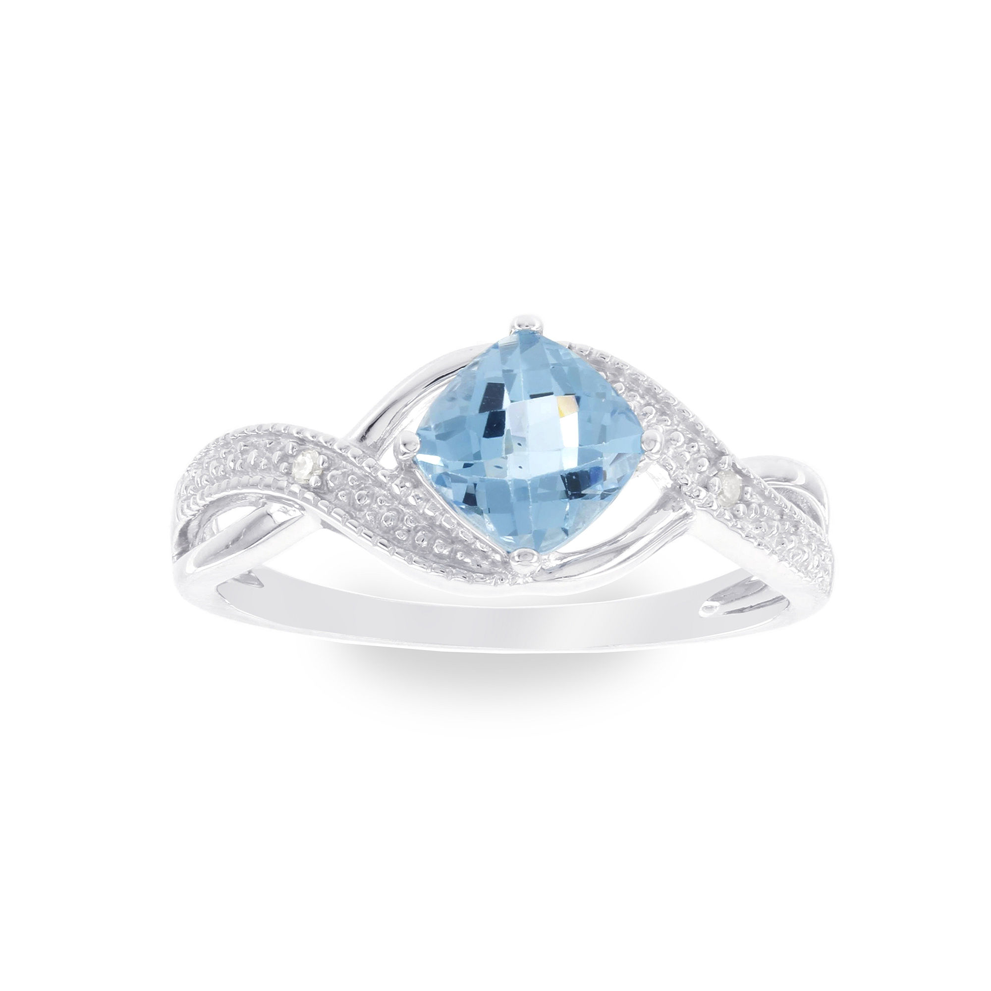 Diamond Accent Blue Topaz Cocktail Ring