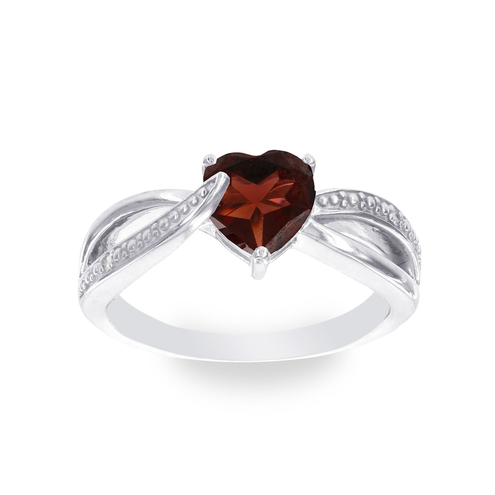 Diamond Accent Red Garnet Cocktail Ring