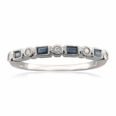 jcpenney.com | Womens 1/10 CT. T.W. Blue Sapphire 14K Gold Wedding Band