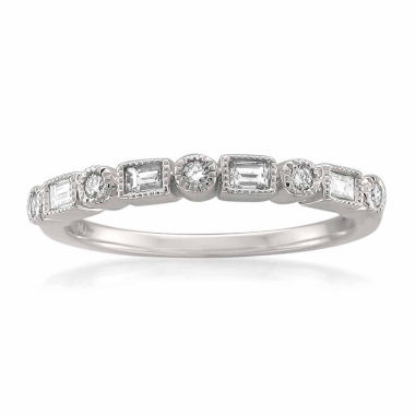 jcpenney.com | Womens 1/6 CT. T.W. White Diamond 14K Gold Wedding Band