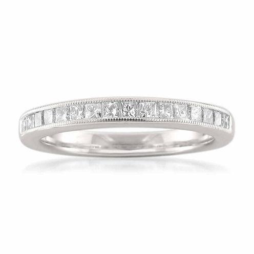 Womens 1/2 CT. T.W. White Diamond 14K Gold Wedding Band