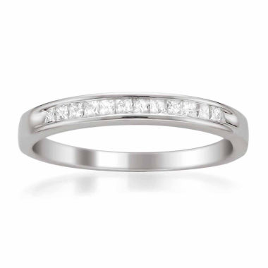 jcpenney.com | Womens 1/4 CT. T.W. White Diamond Platinum Wedding Band