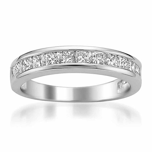 Womens 1 CT. T.W. White Diamond Platinum Wedding Band