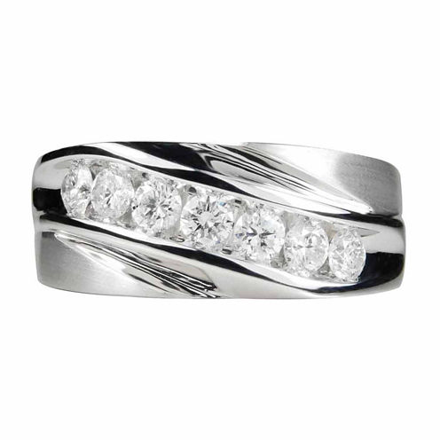 Mens 1 CT. T.W. White Diamond 14K Gold Band