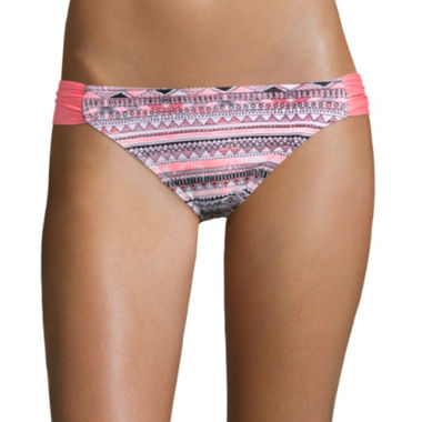 jcpenney.com | Arizona Mod Dream Coral Hipster Swim Bottoms