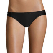 Arizona Black Side-Tab Hipster Swim Bottoms