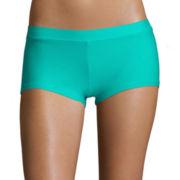 Arizona Turquoise Boyshort Swim Bottoms