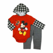 Disney Collection 2-pc. Mickey Pants Set - Baby Boys newborn-24m