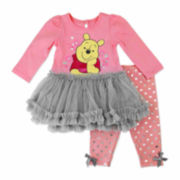 Disney Pooh Girls Legging Set-Baby