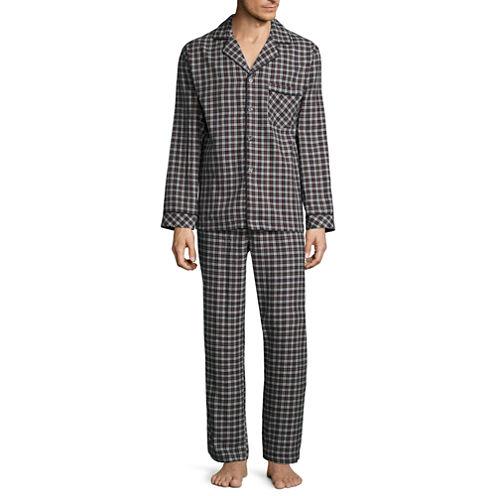 Stafford® 2-pc. Flannel Pajama Set - Big & Tall