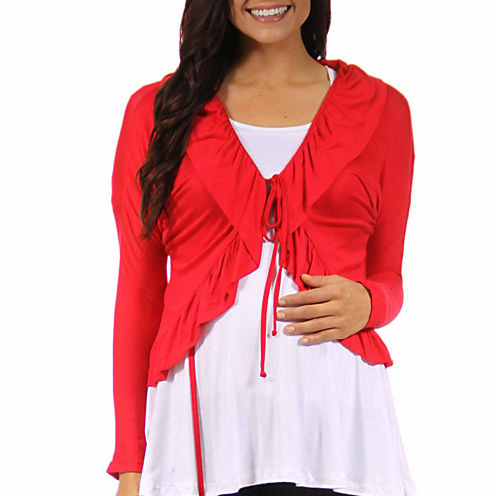 24/7 Comfort Apparel Cardigan Plus Maternity
