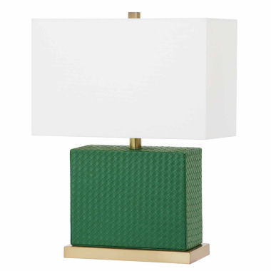 jcpenney.com | Saurian Faux Woven Leather Table Lamp