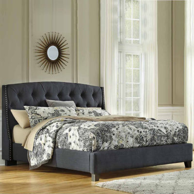 Signature Design by Ashley®  Kasidon Queen Boxed Tufted Upholstered Bed