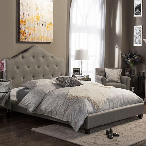 Baxton Studio Anica Upholstered Platform Bed