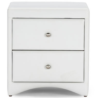 jcpenney.com | Baxton Studio Dorian Faux-Leather Upholstered Modern Nightstand